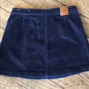Zara Bottoms - Zara Denim Girl Navy Velvet Button Up Skirt